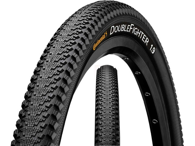 "Continental Double Fighter III Clincher Tyre 20"", black"